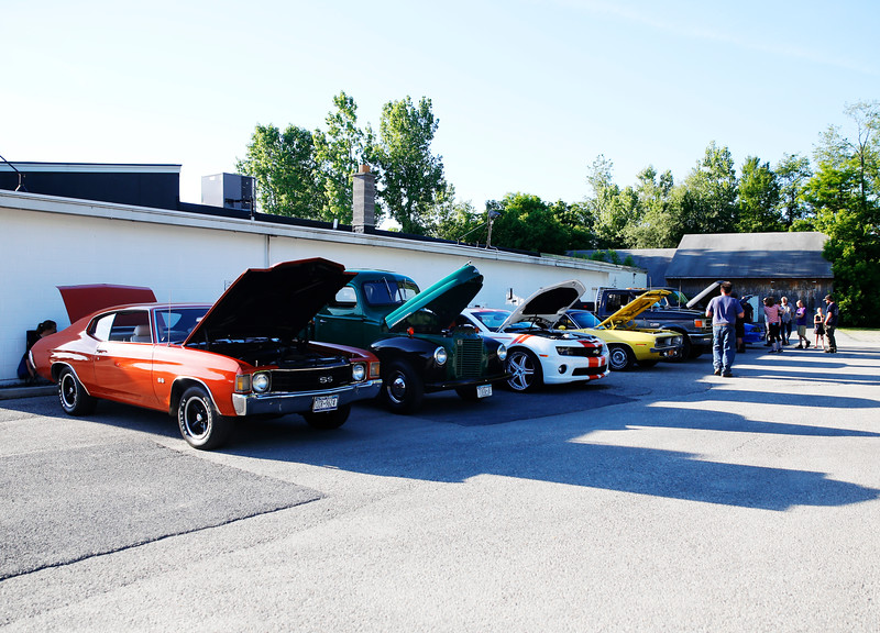Holly Pelczynski - Bennington Banner Cars line up behind Billy t's Northside Dairy Bar on Thursday during a cruise in sponsord by Billy T's and the Bennington Cruizer's.