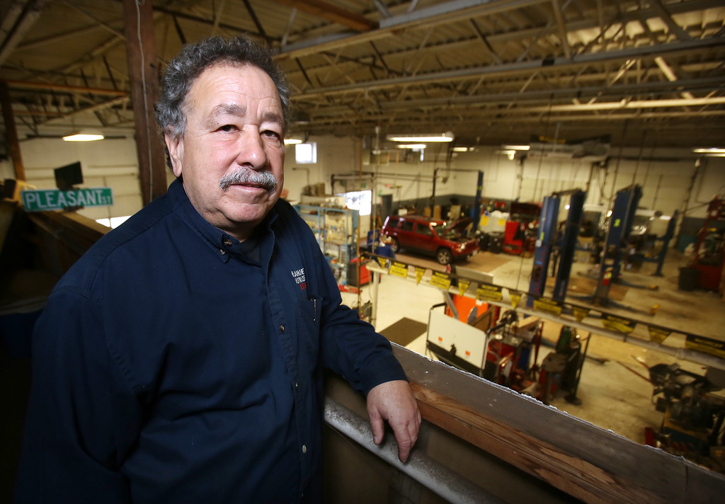 . Rich Blanchette, who is retiring this week after 41 years in business, having sold Blanchette\'s Automotive Service to Pep Boys.  (SUN/Julia Malakie)