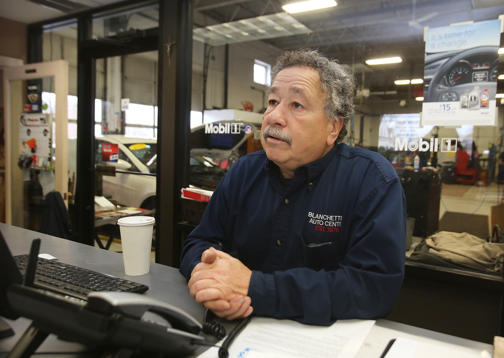 . Rich Blanchette, who is retiring this week after 41 years in business, having sold Blanchette\'s Automotive Service to Pep Boys, talks about the decision.  (SUN/Julia Malakie)