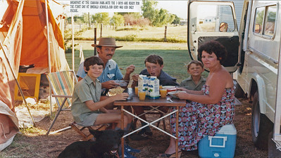 Best part of the day in the caravan park as it is summer and gets very hot during most of the day with no real shade available to us. The town swimming pool gave us some welcome relief when we could find the time. We met a guy who lived in the van park and here, some 28 years later, he is still there and a good friend of ours.