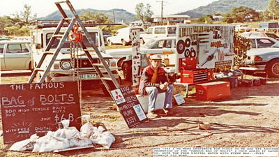 In February 1983 Buffalo Bolt Co opened for business in a limited way with little money for back up so we had to generate profitable sales real soon or perish. The Emerald & Springsure shows were in May so we had stock displays at both and were very successful with our high tensile snig chains and 'The Famous Bag of Bolts'. Assorted washer packs we made sold well