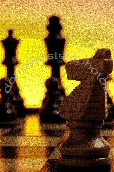 Chess pieces on a chess board stylized is a metaphor/symbol for strategy and strategic thinking.