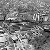 Areial photograph of General Electric in Pittsfield, May2, 1958. Photo by Warren Fowler. Looking North, East Street in foreground.