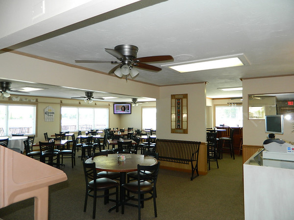 Interior view of the Santee Beachfront Grill.