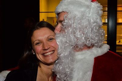 I saw mommy being kissed by Santa Claus