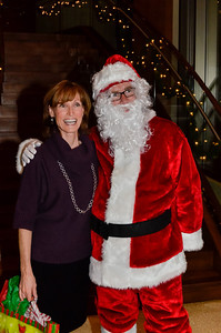 "Professional Solutions Coordinator Diane H with CEO Jeff ""Santa"" Gravatte"