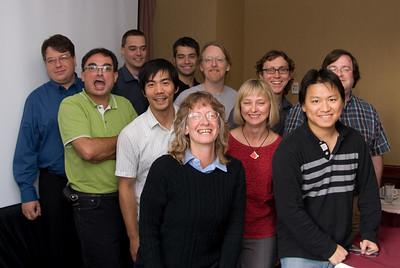 Left to right: Nicholas, Remi, Steffen, Sang, Alexander, Mark, Rita, Luc, Herbert, Greg; Front: Ellen