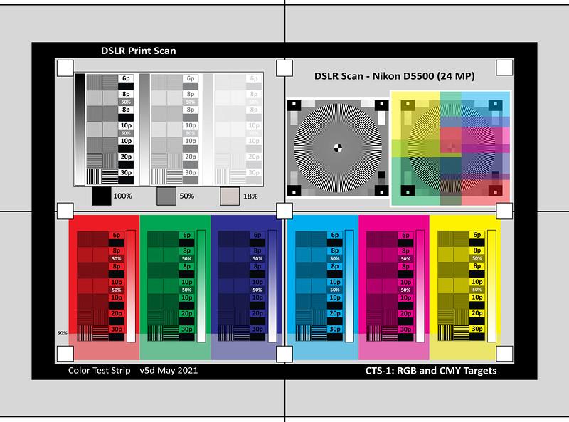 CTS-1 RGB CMY Targets