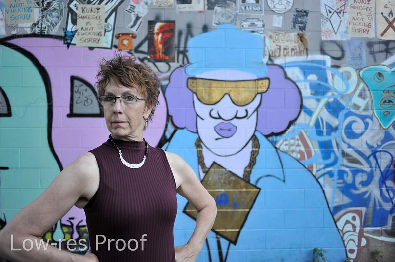 "Carolyn Campbell portrait, Mississippi Ave. Monday July 17, 2017. © 2017 Fred Joe /  <a href=""http://www.fredjoephoto.com"">http://www.fredjoephoto.com</a>"
