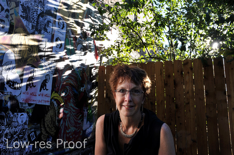 "Carolyn Campbell portrait, Mississippi Ave. Monday July 17, 2017. © 2017 Fred Joe /  <a href=""http://www.fredjoephoto.com"">http://www.fredjoephoto.com</a>"
