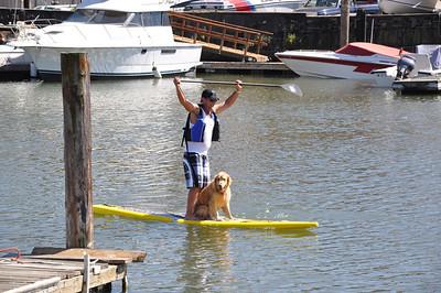 Chris SUP With Dog