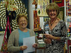 One of our favorite customers, Mary and one of our teachers, Corinne. In real life, they're in focus!