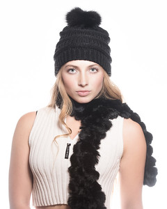 Alaska Fur hats and scarf for brochures