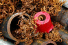 Copper shavings and spare parts