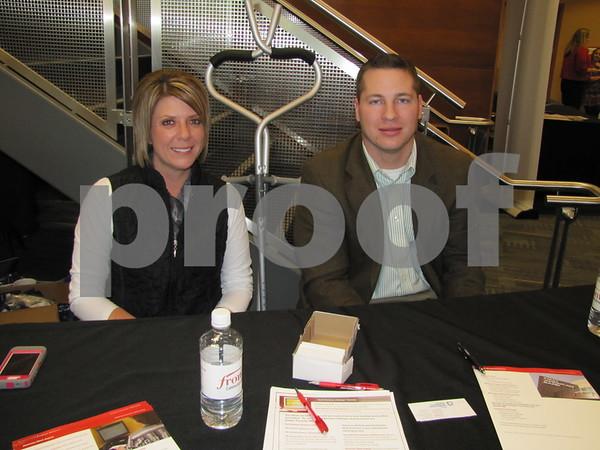 Megan Moore and Nik Moser of American State Bank