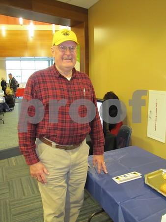 Glenn Markley of Rolfe attended the Entrepreneur Expo at ICCC in Fort Dodge.
