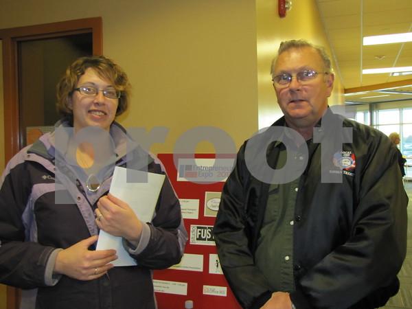 Amanda Strutz and Mike Bendickson attended the Entrepreneur Expo.