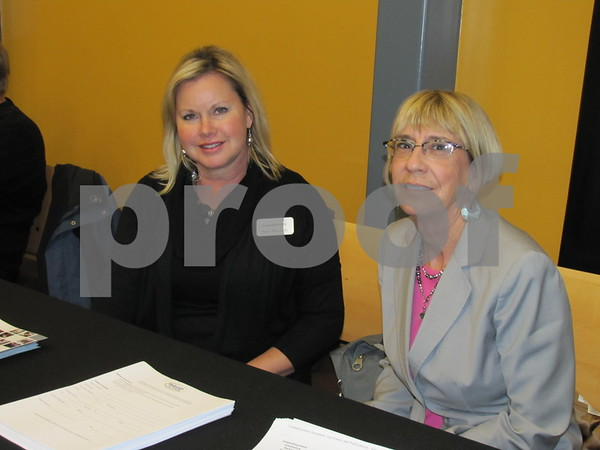 Sara Messerly and Joyce Russell with Iowa Workforce.