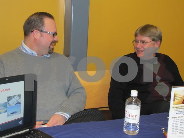 David Toyer and Brad Hicks with Wright County Economic Development.
