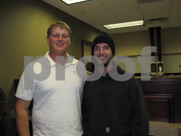 Derek Vorrie and Levi Gansz attended the holiday open house at Northwest Bank.