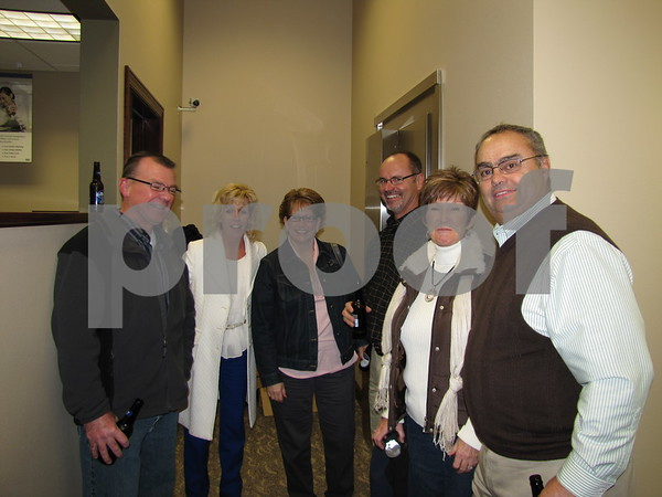 Steve, Shelly, Jackie, Steve, Linda, and Keith enjoyed the festivities at Northwest Bank's holiday open house.