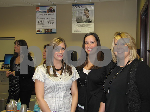 Sarah McCaulley, Melanie Russell, and Brianne Patterson, employees of Northwest Bank.
