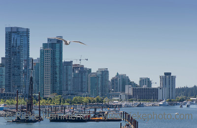 Skyscrapers and Construction Site in Vancouver – Vancouver, British Columbia, Canada