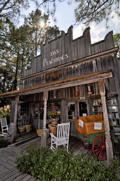 A storefront on the outskirts of Fredericksburg, Texas.