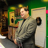 Co-owner of ECi Neil Abramson talks in Cutieques on Tuesday. The business is celebrating its 15th anniversary.<br /> SENTINEL & ENTERPRISE / BRETT CRAWFORD