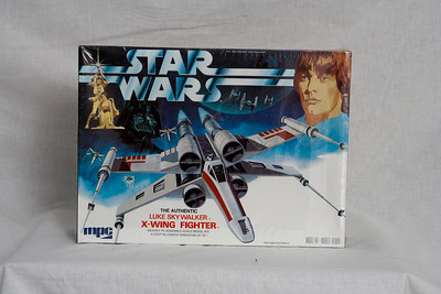 New shrink wrapped scale MPC model X-Wing fighter with Luke figure.   Value $20