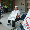 Kris Swanson, Assistant Grocery Manager, and Rosemarie Benoit-Corriere, deli, protest outside the Market Basket store in Leominster on Tuesday afternoon. SENTINEL & ENTERPRISE / Ashley Green