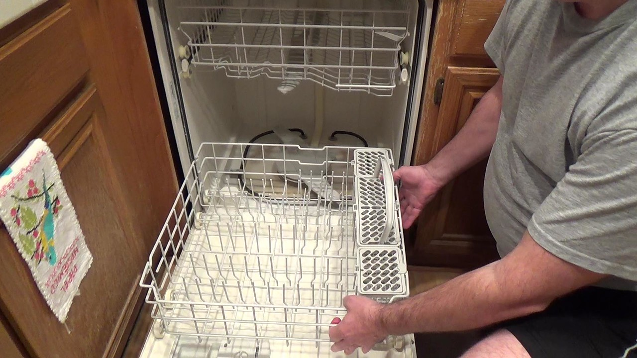 Cleaning dishwasher take the racks out