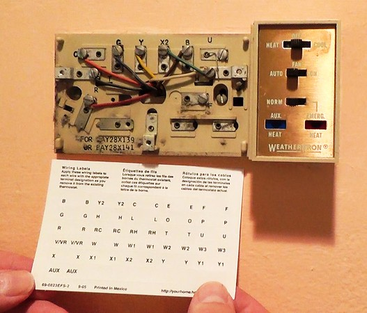 Label the thermostat wires