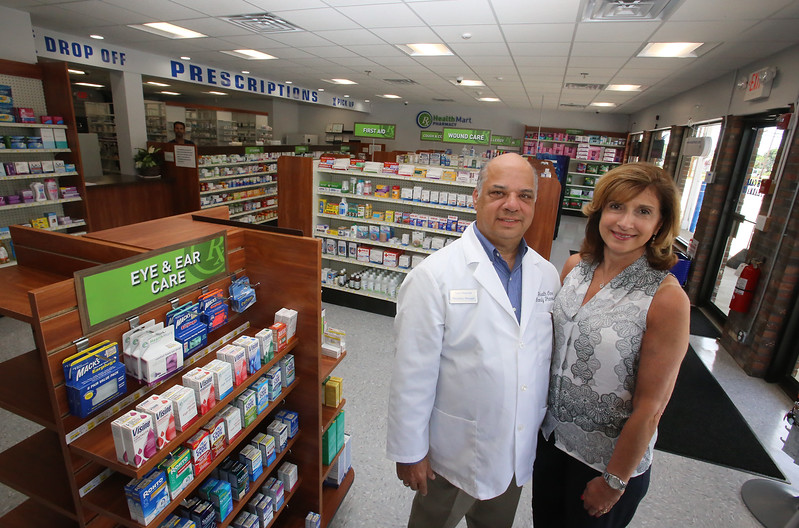 Health Care Family Pharmacy, run by two of its three owners, Sam and wife Connie Hantzis of Lowell, is now open at Loon Hill Road and Rt 113 in Dracut. (SUN/Julia Malakie)