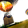 "Life Cycle Balloon Adventures lifts off for a flight in the Gunbarrel area of Boulder on Thursday morning. Passengers seen from left to right Gene and Anne Schiferl and George Emmons.<br /> FOR MORE PHOTOS AND A VIDEO OF THE LIFTOFF GO TO  <a href=""http://WWW.DAILYCAMERA.COM"">http://WWW.DAILYCAMERA.COM</a> <br /> Photo by Paul Aiken / The Camera / 8/ 18/ 2011"