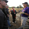 "Pilot Michael Gianetti of Life Cycle Balloon Adventures gives a preflight briefing to his passengers including from left to right ,Scott Shevlin, George Emmons and Anne Schiferl in the Gunbarrel area of Boulder on Thursday morning. <br /> FOR MORE PHOTOS AND A VIDEO OF THE LIFTOFF GO TO  <a href=""http://WWW.DAILYCAMERA.COM"">http://WWW.DAILYCAMERA.COM</a> <br /> Photo by Paul Aiken / The Camera / 8/ 18/ 2011"