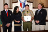 Marla Jones with her three sons, all Eagle Scouts Troop 25.