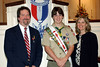 Mike Gatlin, Eagle Scout Kyle Gatlin and Phyl Gatlin.