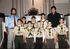 Troop Leaders Mike Gatlin and David Short with Flaming Arrow scout troop 25. All of these boys but one went on to earn their Eagle Scout. Left to right, Rand Pressley, Ben Vaughan, Sam Smith (did not get Eagle), Jared Trice and Jarrod Penny. Back row, Mike, Kyle Gatlin, Jess Rogers, Chas Short, David.