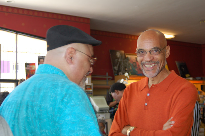 Author Earl Ofari Hutchison was on hand for the opening.
