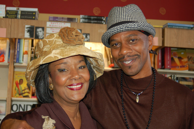 Gwen Thomas (left) educator at West Los Angeles College and Torrence Reese, who sang with his group Renaissance. He is the director of L.A. Bridges at T.H.E. Clinic, Inc.