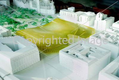 Paris, France-  Architectural Model of the Les Halles Commercial Center project, Credit Architect. P. Berger, J. Anziutti