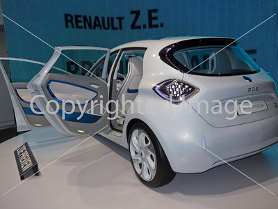 Paris, France, Renault Car Showroom on Champs-Elysses, Display of New Green Cars, Electric