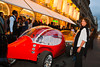 Paris, France, Fashion Night, Electric Cars, Outside Courreges Luxury Clothing Store