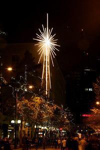 Christmas Tree Lighting, Westlake Mall, Seattle, WA. 2009