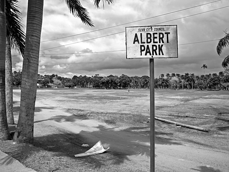 Albert Park, after the party is over.