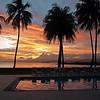 Some rare winter sunset colour at the Holiday Inn, Suva, Fiji.