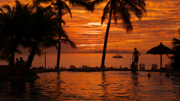 Fiji sunset taken at Sonaisali