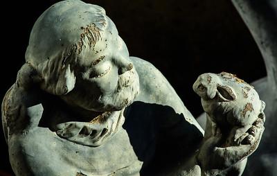 old garden statue-3594