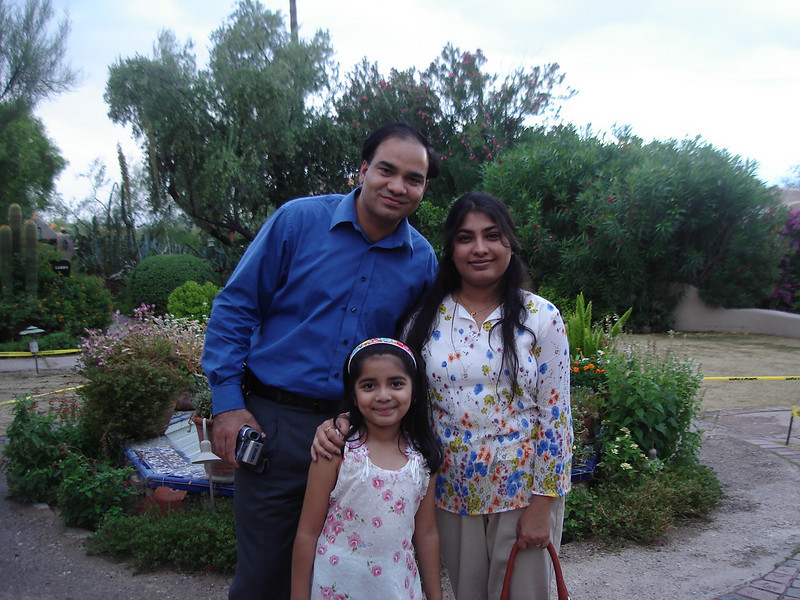 Vikram, his wife Monica, and daughter Reiah